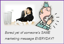 Marketing via NON boring messages Universal Resource Queen